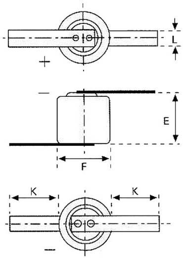 CR1/3N forrfüles lítium gombelem, forrasztható, 3 V, 170 mA, Varta CR 1/3 N LF 6131