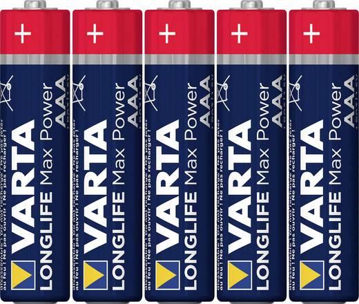 Mikroelem AAA, alkáli mangán, 1,5V, 4 db, Varta Max Tech LR03, AAA, LR3, AM4M8A, AM4, S