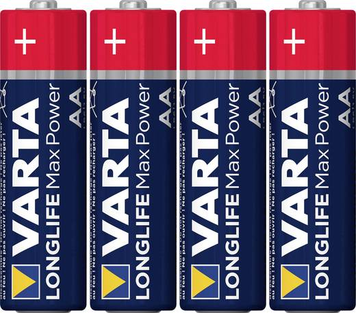 Ceruzaelem AA, alkáli mangán, 1,5V, 4 db, Varta Max Tech LR06, AA, LR6, AAB4E, AM3, 815, E91, LR6N