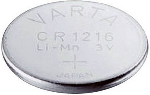 CR1216 lítium gombelem, 3 V, 25 mA, Varta BR1216, DL1216, ECR1216, KCR1216, KL1216, KECR1216, LM1216