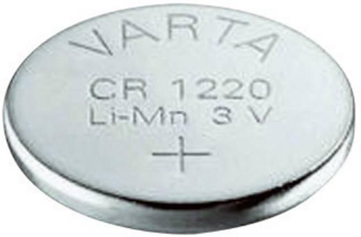 CR1220 lítium gombelem, 3 V, 35 mA, Varta BR1220, DL1220, ECR1220, KCR1220, KL1220, KECR1220, LM1220