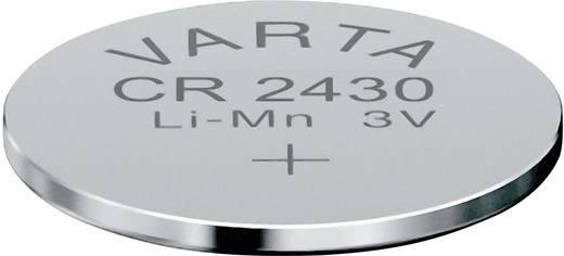 CR2430 lítium gombelem, 3 V, 280 mA, Varta BR2430, DL2430, ECR2430, KCR2430, KL2430, KECR2430, LM2430