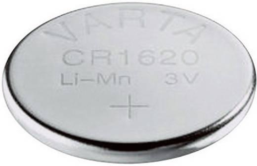 CR1620 lítium gombelem, 3 V, 70 mA, Varta BR1620, DL1620, ECR1620, KCR1620, KL1620, KECR1620, LM1620