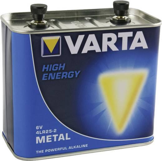 4R25-2 alkáli elem, lámpaelem, 6V 33000 mAh, fém ház, Varta High Energy MN918, PC918, 4LR25‑24, 4R25‑2C