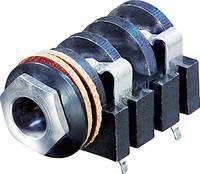 Jack csatlakozó, 6,35 mm alj, beépíthető, vízszintes pólusszám: 2 Mono fekete Rean AV NYS2152 1 db (NYS2152) Rean AV