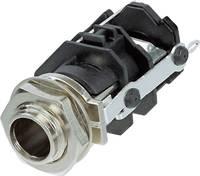 Jack csatlakozó, 6,35 mm alj, beépíthető, függőleges pólusszám: 3 Sztereo fekete Rean AV RJ3VM 1 db (RJ3VM) Rean AV