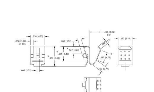 Elem érintkező 1 x mikro AAA, mini AAAA, Lady N, 23A, 27A, 6,35 x 9,09 mm, Keystone 204