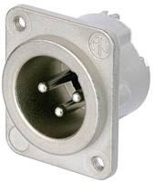 XLR csatlakozó peremes dugó, egyenes érintkezők pólusszám: 3 ezüst Neutrik NC3MD-LX-M3 1 db (NC3MD-LX-M3) Neutrik