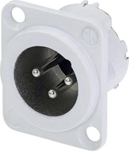 XLR csatlakozó peremes dugó, egyenes érintkezők pólusszám: 3 fehér Neutrik NC3MD-LX-WT 1 db