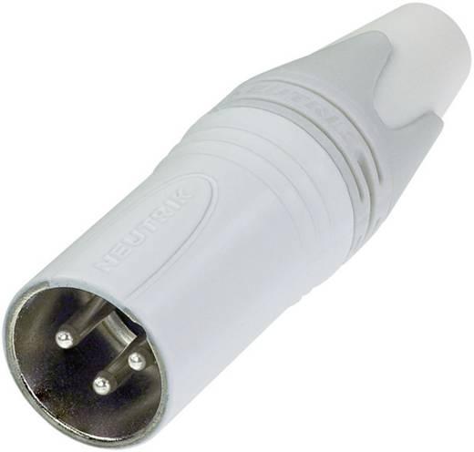 XLR csatlakozó dugó, egyenes pólusszám: 3 fehér Neutrik NC3MXX-WT 1 db