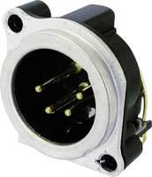 XLR csatlakozó peremes dugó, hajlított érintkezők pólusszám: 4 ezüst Neutrik NC4MBH 1 db (NC4MBH) Neutrik