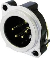 XLR csatlakozó peremes dugó, egyenes érintkezők pólusszám: 4 ezüst Neutrik NC4MBV 1 db (NC4MBV) Neutrik