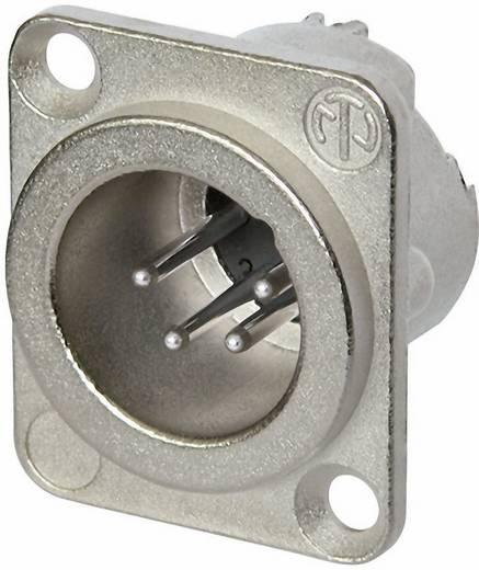 XLR csatlakozó peremes dugó, egyenes érintkezők pólusszám: 4 ezüst Neutrik NC4MD-LX 1 db