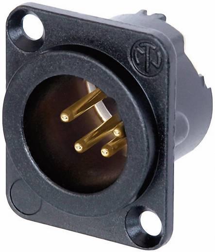 XLR csatlakozó peremes dugó, egyenes érintkezők pólusszám: 4 fekete Neutrik NC4MD-LX-B 1 db
