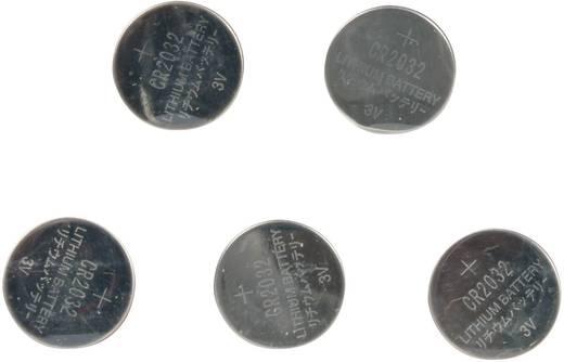 CR2032 lítium gombelem, 3 V, 185 mA, 5 db, Grundig BR2032, DL2032, ECR2032, KCR2032, KL2032, KECR2032, LM2032