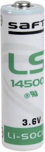 AA lítium ceruzaelem, 3,6V 2600 mAh, 14,5 x 50 mm, Saft LS14500