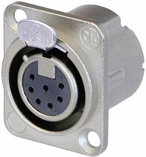 XLR csatlakozó peremes hüvely, egyenes érintkezők pólusszám: 7 ezüst Neutrik NC7FD-LX 1 db