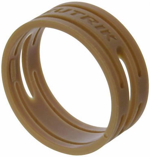 Kábeljelölő gyűrű készlet 10db barna színű Neutrik XXR-SET-1