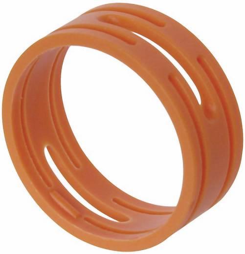 Kábeljelölő gyűrű készlet 10db narancs színű Neutrik XXR-SET-3