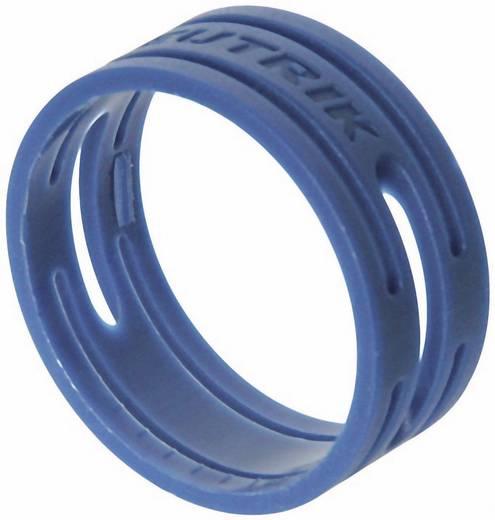 Kábeljelölő gyűrű készlet 10db kék színű Neutrik XXR-SET-6