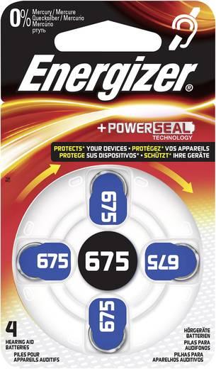 ZA675 hallókészülék elem, cink-levegő, 1,4V, 635 mAh, 4 db, Energizer ZA675, PR44
