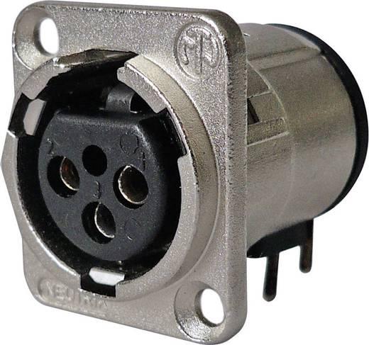XLR csatlakozó peremes hüvely, hajlított érintkezők pólusszám: 3 ezüst Neutrik NC3FD-H-0 1 db