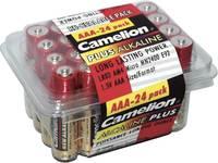 Mikroelem AAA alkáli mangán, 1,5V, 24 db, Camelion  Camelion