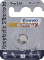 394 gombelem, ezüstoxid, 1,55V, 67 mAh, Conrad Energy SR936SW, SR936, V394, D394, 625, 280‑17, SB‑A4, RW33, BS27, AG9 Conrad energy