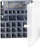 Elem vagy akkumulátor tároló, többrekeszes elemtartó elemteszterrel Conrad Energy 651818 (651818) Conrad energy