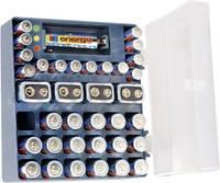 Alkáli elemkészlet dobozban, elemteszterrel, 4x9V, 14xAAA, 18xAA, Conrad Energy (651821) Conrad energy