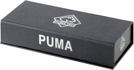 Zsebkés, összecsukható, penge aél, 76 mm, nyél pakka fa/nikkel/ezüst, PumaTec Pakkawood