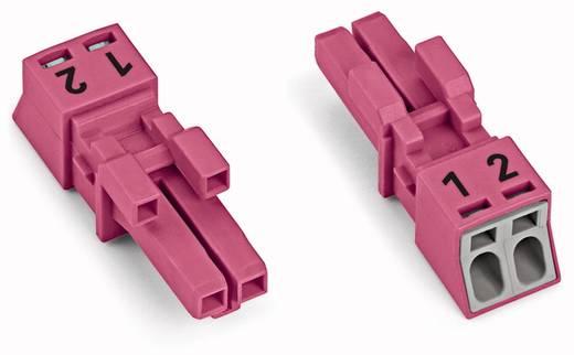 Hálózati csatlakozó alj, egyenes, 16 A, pólusszám: 2, pink, 50 db, WAGO 890-282