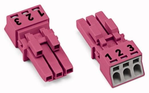 Hálózati csatlakozó alj, egyenes, 16 A, pólusszám: 3, pink, 50 db, WAGO 890-283