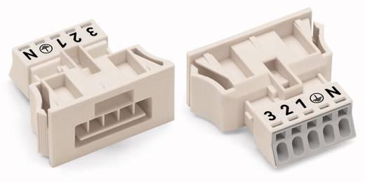 Hálózati csatlakozó dugó, egyenes, 13 A, pólusszám: 5, fehér, 50 db, WAGO 890-735/006-000