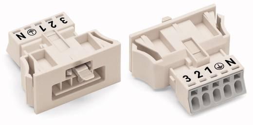 Hálózati csatlakozó dugó, egyenes, 13 A, pólusszám: 5, fehér, 50 db, WAGO 890-735