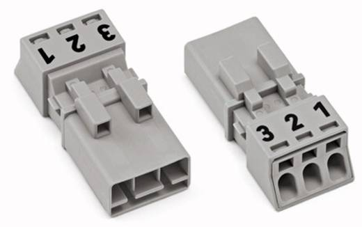 Hálózati csatlakozó dugó, egyenes, 16 A, pólusszám: 3, szürke, 50 db, WAGO 890-253/060-000