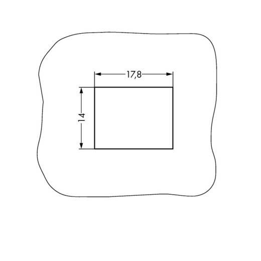 Hálózati csatlakozó alj, egyenes, pólusszám: 2 16 A, szürke, WAGO 890-742/060-000, 50 db