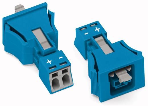 Hálózati csatlakozó alj, egyenes, 16 A, pólusszám: 2, kék, 50 db, WAGO 890-2102