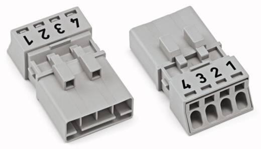 Hálózati csatlakozó dugó, egyenes, 16 A, pólusszám: 4, fehér, 50 db, WAGO 890-234