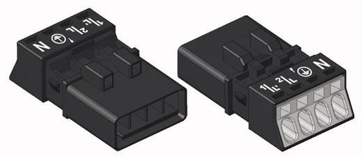 Hálózati csatlakozó dugó, egyenes, 16 A, pólusszám: 4, fekete, 50 db, WAGO 890-214
