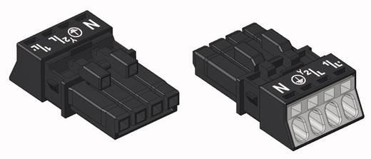 Hálózati csatlakozó alj, egyenes, 16 A, pólusszám: 4, fekete, 50 db, WAGO 890-204