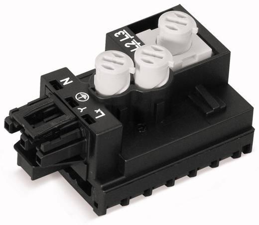 Elágazó modul, kerek vezetékhez, lapos kábelhez, pólusszám: 3, fekete WAGO 772-263, 10 db