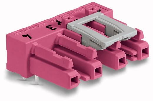 Hálózati csatlakozó alj, beépíthető, vízszintes, pólusszám: 4, 25 A, pink, WAGO 770-884/011-000, 50 db