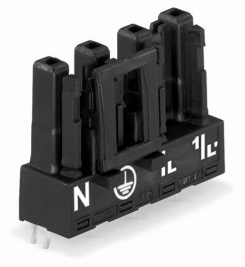 Hálózati csatlakozó alj, beépíthető, függőleges, pólusszám: 4, 25 A, fekete, WAGO 770-804, 50 db