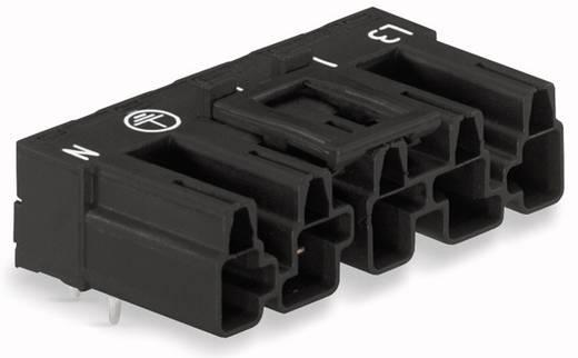 Hálózati csatlakozó dugó, beépíthető, vízszintes, pólusszám: 5, 25 A, fekete, WAGO 770-815/011-000, 50 db