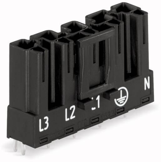 Hálózati csatlakozó dugó, beépíthető, vízszintes, pólusszám: 5, 25 A, fehér, WAGO 770-835, 50 db