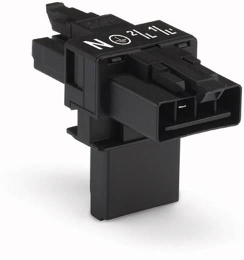 Hálózati T elosztó, 1 x dugó – 2 x alj, pólusszám: 4, fekete, WAGO 890-626, 25 db