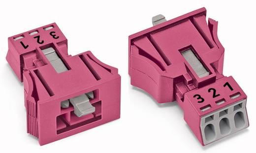 Hálózati csatlakozó dugó, egyenes, pólusszám: 3, 16 A, pink, WAGO 890-793, 50 db