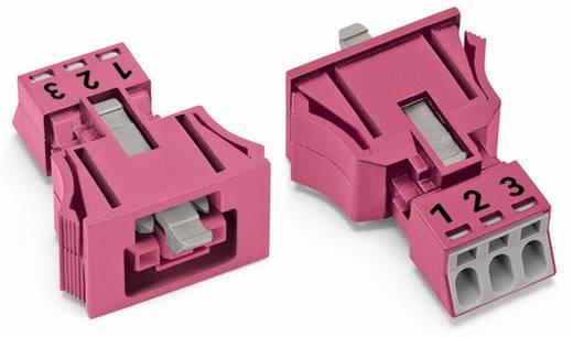 Hálózati csatlakozó alj, egyenes, pólusszám: 3, 16 A, pink, WAGO 890-783, 50 db