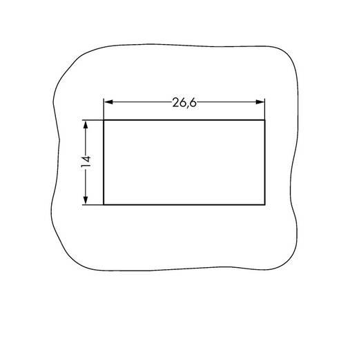 Hálózati csatlakozó alj, egyenes, pólusszám: 4 16 A, fekete, WAGO 890-704, 50 db